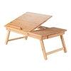 Winsome Wood Baldwin Lap Desk With Flip Top Bamboo, 24.79 x 13.31 x 9.2, Bamboo