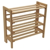 Winsome Wood Clifford Foldable Shoe Rack, 27.8 x 11.5 x 25.87, Natural