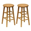 "Winsome Wood Tabby 2-Pc 24"" Bar Stool Set Natural, 12.8 x 12.8 x 24.49, Natural"