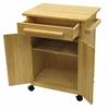 Winsome Wood Hackett Kitchen Cart, 26.9 x 18.2 x 34.3, Natural