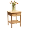 Winsome Wood Claire Accent Table Natural Finish, 18 x 18 x 22, Natural