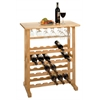 Winsome Wood 24-Bottle Wine Rack Natural, 31.5 x 16.22 x 35.67, Beech