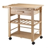 Winsome Wood Finland Kitchen Cart, 35 x 20.5 x 31.5, Natural