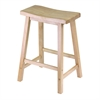 "Winsome Wood Satori 24"" Saddle Seat Bar Stool Beech, 17.48 x 14.47 x 24, Beech"