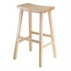 "Winsome Wood Satori 29"" Saddle Seat Bar Stool Beech, 17.91 x 15.79 x 28.86, Beech"