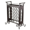Winsome Wood Silvano Wine Rack 5X5 With Removable Tray, Dark Bronze, 25.86 x 13.5 x 30.16, Dark Bronze