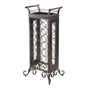 Winsome Wood Silvano Wine Rack 7X3 With Removable Tray, Dark Bronze, 18.15 x 13.5 x 37.87, Dark Bronze