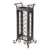 Winsome Wood Silvano Wine Rack 7X3 With Removable Tray, Dark Bronze, 18.15 x 13.5 x 37.87, Dark Bronze