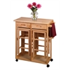 Winsome Wood Suzanne 3-Pc Space Save Set Beech, 29.61 x 29.13 x 32.76, Beech