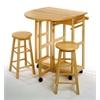 Winsome Wood Burnett 3-Pc Space Saver Set, 29.7 x 29.29 x 32.79, Beech