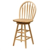 "Winsome Wood Wagner 24"" Arrow-Back Windsor Swivel Seat Bar Stool Beech, 18 x 17 x 40, Beech"
