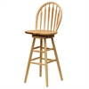 "Winsome Wood Wagner 30"" Arrow-Back Windsor Swivel Seat Bar Stool Beech, 18 x 17 x 45.5, Beech"