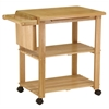 Winsome Wood Mario Utility Cart, 33.19 x 20.47 x 31.93, Beech