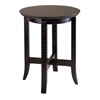 Winsome Wood Toby End Table, 18.03 x 18.03 x 21.97, Dark Espresso