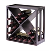 "Winsome Wood Kingston Modular ""X"" Cube Holds 24-Bottle, Stackable, 20.47 x 20.47 x 9.92, Dark Espresso"