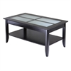 Winsome Wood Syrah Coffee Table With Frosted Glass, 40 x 22.6 x 18, Dark Espresso