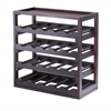 Winsome Wood Kingston, Stackable Removable Tray 20 Bottle Wine Cube, 20.47 x 9.92 x 20.47, Dark Espresso