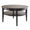 Winsome Wood Amelia Round Coffee Table With Pull Out Tray, 29.92 x 29.92 x 17.99, Dark Espresso