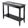 Winsome Wood Syrah Console/Hall Table With Frosted Glass, 40 x 16.3 x 30, Dark Espresso
