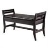 Winsome Wood Marvin Bench With Faux Leather Seat Cushion, 39.96 x 16.14 x 23.43, Espresso