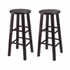 "Winsome Wood Pacey 2-Pc 29"" Bar Stool Set Espresso, 13.6 x 13.6 x 29.1, Espresso"