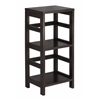 Winsome Wood Leo Shelf / Storage, Book, 2-Tier, Narrow, 13.39 x 11.22 x 29.21, Espresso