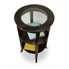 Winsome Wood Genoa Accent Table, Inset Glass, Two Shelves, 18.5 x 18.5 x 30.19, Dark Espresso