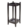 Winsome Wood Jana Umbrella Stand With Metal Tray, 11.02 x 11.02 x 25.98, Espresso