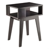 Winsome Wood Thompson End Table, 20 x 14.96 x 25, Espresso