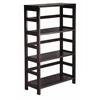 Winsome Wood Leo Shelf / Storage, Book, 3-Tier Wide, 25.2 x 11.2 x 42, Espresso