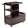 Winsome Wood Galen Entertainment Cart, 34.25 x 16.77 x 34.37, Espresso