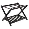 Winsome Wood Reese Luggage Rack With Shelf, 26.54 x 18.66 x 20, Dark Espresso