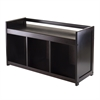 Winsome Wood Addison Storage Bench With 3-Section, 37.4 x 13.5 x 20.87, Dark Espresso