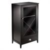 Winsome Wood Bordeaux Modular Wine Cabinet x Panel, 22.64 x 15.75 x 40, Espresso