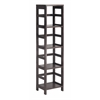 Winsome Wood Leo Shelf With 4-Tier, 13.39 x 11.22 x 54.8, Espresso