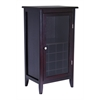 Winsome Wood Ryan Wine Cabinet 16-Bottle, Glass Rack, One Door, 21.89 x 15.83 x 40.2, Dark Espresso