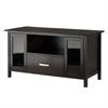 Winsome Wood Bradford Media Console/Tv Stand, 44.48 x 20.47 x 23.46, Espresso