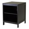 Winsome Wood Hailey Tv Stand, Modular, Open Shelf, Small, 18.98 x 18.98 x 24.02, Dark Espresso