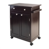 Winsome Wood Savannah Kitchen Cart, 26.89 x 17.72 x 34.02, Espresso
