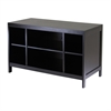 Winsome Wood Hailey Tv Stand, Modular, Open Shelf, Large, 40 x 18.98 x 24.02, Dark Espresso
