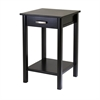 Winsome Wood Liso End Table / Printer Table With Drawer And Shelf, 20.5 x 20.5 x 31.1, Dark Espresso