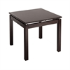 Winsome Wood Linea End Table With Chrome Accent, 23.6 x 23.6 x 21.25, Dark Espresso