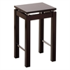 "Winsome Wood Linea 23"" Stool With Chrome Accent, 13.77 x 13.77 x 22.87, Dark Espresso"