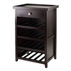 Winsome Wood Zillah Wine Cabinet With Removable Tray, 23.39 x 17.58 x 36.1, Espresso