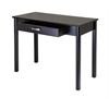 Winsome Wood Liso Writing Desk With Drawer, 42 x 20.5 x 31.1, Dark Espresso