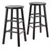 "Winsome Wood Tabby 2-Pc 24"" Bar Stool Set Dark Espresso, 12.8 x 12.8 x 24.49, Dark Espresso"