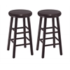 "Winsome Wood Oakley 2-Pc 24"" Swivel Seat Bar Stool Set Dark Espresso, 12.8 x 12.8 x 25.28, Dark Espresso"