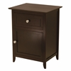 Winsome Wood Eugene Accent Table Espresso, 18.9 x 14.96 x 25, Espresso