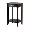 Winsome Wood Danica Side Table, 20 x 15.98 x 30, Dark Espresso