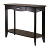 Winsome Wood Danica Console Table, 40 x 15.98 x 30, Dark Espresso
